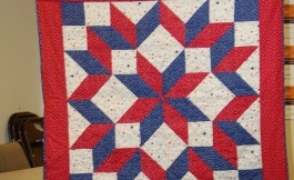 MaryAnn and her star quilt